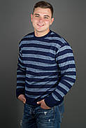 Мужской свитер больших размеров Паук, цвет синий / размерный ряд 48,50,52, фото 2