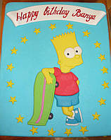 """Заказной торт для мальчика """"Симпсон"""" на день рождения в Днепре"""