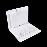 Чехол с клавиатурой для планшетов 9 дюймов (микро USB) Белый , фото 1
