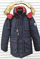 НОВИНКА! Куртка зимняя НА ПОДКЛАДКЕ ИЗ ИСКУССТВЕННОЙ ОВЧИНЫ для мальчиков.Размеры 8-16,Фирма GRACE .Венгрия