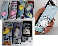 Накладка для iPhone 6 / 6s Infinity антистресс Gray Cat