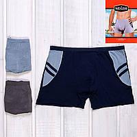 Удобные трусы транки мужские с узором Wenzhi 7012 магазин мужского нижнего белья (6 ед. в упаковке)