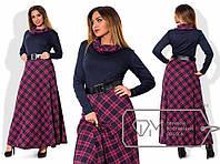 Стильное длинное платье, р-р 48-54 (в расцветках)