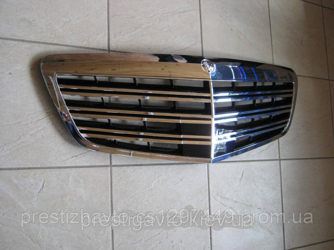 Решетка радиатора AMG на Mercedes S-Сlass W221 рестайлинг