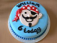 """Детский торт """"Пират"""" на день рождения для мальчика под заказ"""