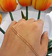 Золотая цепочка Нонна ширина 1.5 мм, вес 1.5 г, фото 2
