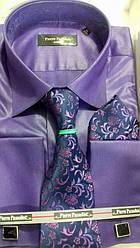 Набор свадебный рубашкаPierre Pasolini с галстуком под запонки