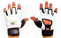 Перчатки для тхэквондо с фиксатором запястья WTF BO-2310 (полиэстер, р-р M, в ассортименте), фото 1