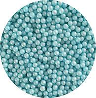 Сахарные бусинки - голубые (сахарные шарики)