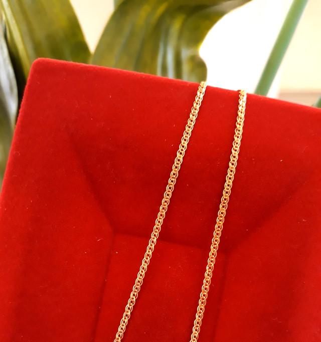 Легкая золотая цепочка Нонна ширина 1.5 мм 1.5 г фото 1