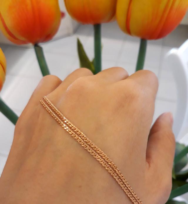 Легкая золотая цепочка Нонна ширина 1.5 мм 1.5 г фото 2