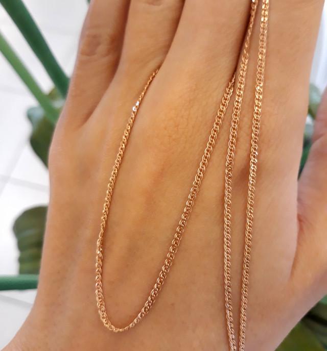 Легкая золотая цепочка Нонна ширина 1.5 мм 1.5 г фото 3