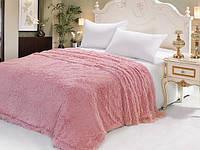 Покрывало на кровать мех травка (евро)