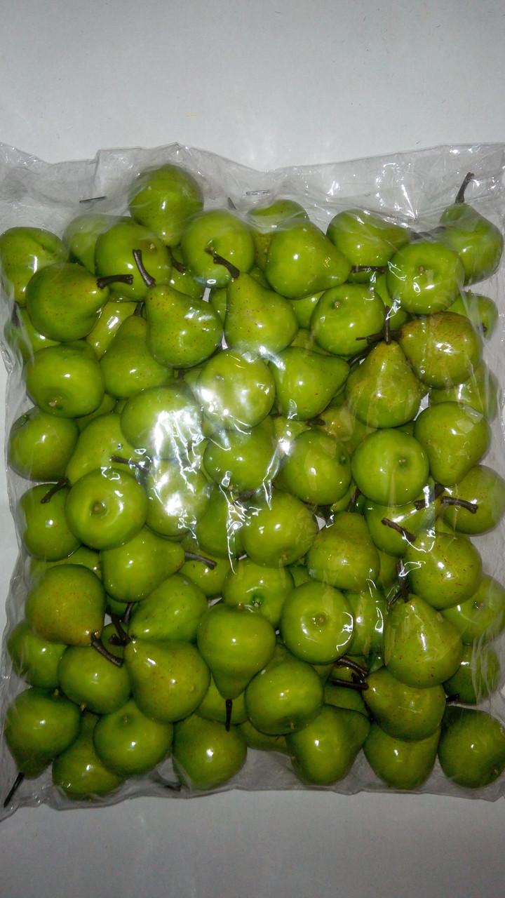 Муляж груши,искусственный фрукт-груша зелёная