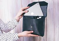 """Ручной конверт для планшета 7-8"""" Синий сапфир (кожа), фото 1"""