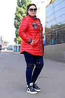 Женская демисезонная куртка-рубашка супер батал