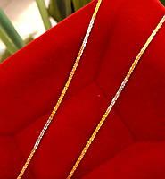Золотая цепочка Акс из красного, желтого и белого золота 50см, фото 4