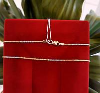 Золотая цепочка Акс из красного, желтого и белого золота 50см, фото 3