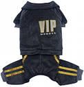 Спортивный костюм для собак XS черный VIP, фото 2