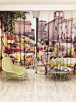 Фотоштора Walldeco Уличное кафе 142х270 2шт (26477_1_1)
