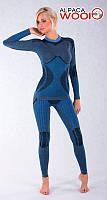 Женские термоштаны с шерстью альпаки HASTER ALPACA WOOL зональное бесшовное шерстяное термобелье