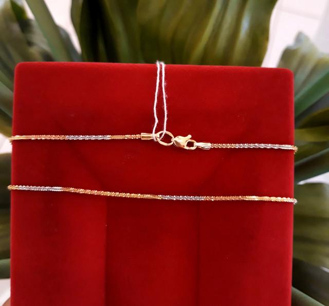 Золотая цепочка Акс из красного, желтого и белого золота фото 3