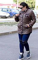 Модная куртка-рубашка очень больших размеров