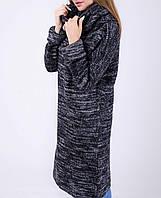 Длинный женский джемпер-платье с хомутом