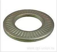 Шайба контактная пружинная тарельчатая рефленная нержавеющая, NFE 25-511