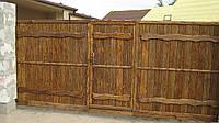 """Деревянные ворота под старину """" Велимудр""""."""