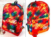 Женский рюкзак городской школьный яркий принт