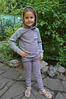 Теплый нежный  детский спортивный костюм для девочки из ангоры, фото 1