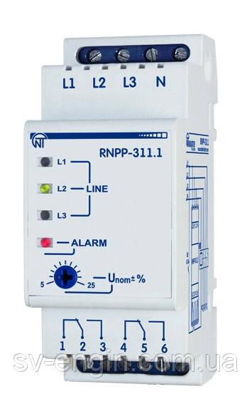 РНПП-311.1 (RNPP-311.1) - трехфазное реле напряжения