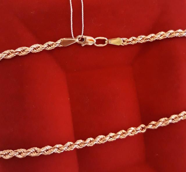 Золотая цепочка Веревка 50 см фото