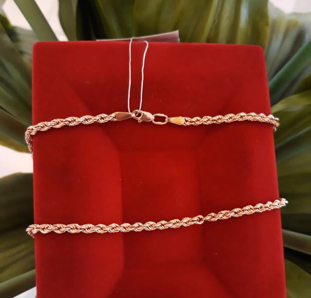 Золотая цепочка Веревка 50 см фото 1
