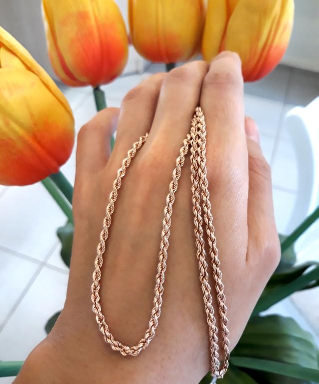 Золотая цепочка Веревка 50 см фото 5