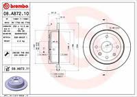 Диск тормозной задний Chevrolet Lacetti 1.6/1.8 16V Brembo