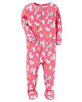 Детский розовый человечек (комбинезон) с собачками Carters для девочки
