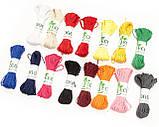 Декоративный шнурок, цветная нитка, верёвка для упаковки, хлопковый шпагат - однотон - выбор цвета, фото 3