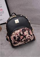 Рюкзак женский с цветочным принтом