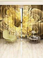 Фотоштора Walldeco Золотой цветок 142х270 2шт (24172_1_1)