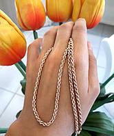 Золотая цепочка Веревка 50 см, фото 5