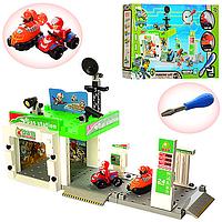 Детский игровой набор Паркинг-конструктор Щенячий Патруль G1995 -на шурупах, 67дет., 2 этажа, машинки 2шт.,