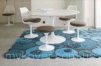 Объемные 3D ковры, купить бирюзово голубой ковер кругами, фото 1