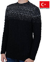 Теплый молодежный свитер из меланжированной пряжи.Зимние кофты и свитера.