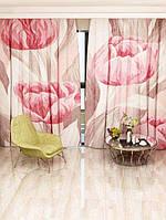 Фотоштора Walldeco Розовые тюльпаны 142х270 2шт (5237_1_1)
