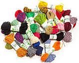 Декоративный шнурок, цветная нитка, верёвка для упаковки, хлопковый шпагат - черное золото, фото 3