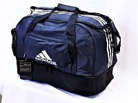 Сумка спортивная Adidas 0563 с отделом для обуви темно синяя большая
