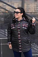 Женская куртка-рубашка до 74 размера