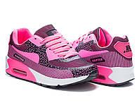 Модные женские темно-розовые кроссовки Nike Air Max 90 Найк Аир Макс, копия Rapter